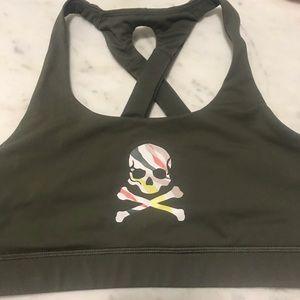 COPY - Lululemon Soulcycle Skull Olive Sports Bra